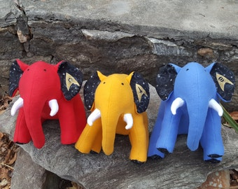 "STAR TREK- Set of Three Plush Elephant - ""Starfleet"""