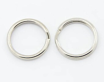 Set of 100 rings key ring 15mm