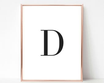 Printable Letter D, Letter D Decor, Letter D, Printable Letters, Printable Letter Art, Letter Wall Decor, Nursery Letters, Letter Art
