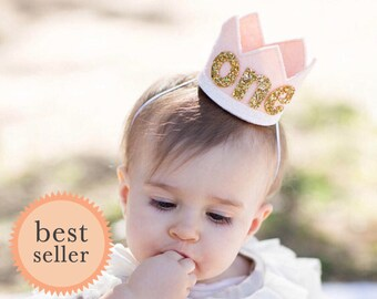 Cake Smash Outfit || First Birthday Crown || Girl Birthday Party Crown || 1st Birthday Crown || Birthday Crown Girl  || Baby Birthday Crown