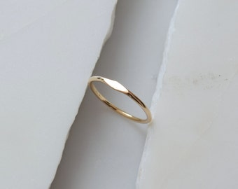 Gold Signet Ring Solid Gold Ring 14k Solid Gold Ring Dainty Gold Ring Minimalist Gold Ring