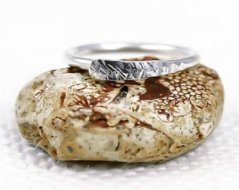 Navel Ring, Sterling Silver, 14, 16 18, 19, 20 Gauge, Hammered, Textured, Navel jewellery, Navel hoop, Silver navel ring, Cartilage hoop,