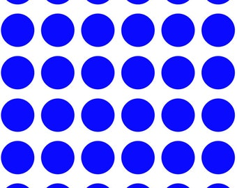 """36 1.5"""" Polka Dot Wall Decals - Safe For Walls - Removable - Room Decor - Nursery Decor - 20 Colors To Choose From!"""