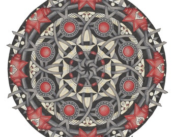 "Mandala art print ""Guarding the Gates"""