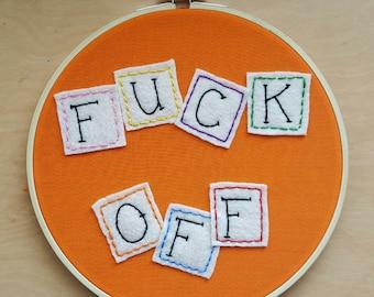 """ABC Blocks 8"""" Embroidery Hoop Art"""