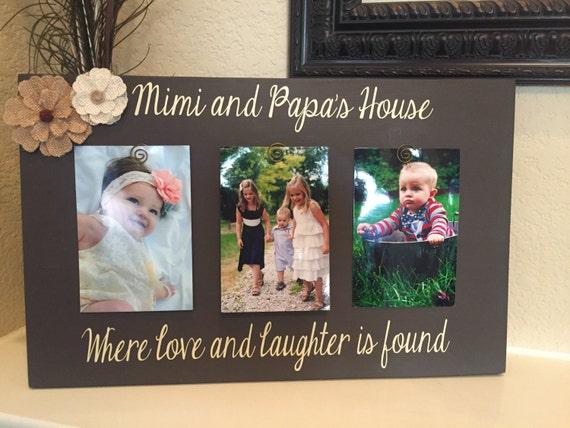 Custom frame mimi papa Grandma frame mom mothers day mommy ...