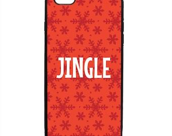 Jingle Snowflakes Print Phone Case Samsung Galaxy S5 S6 S7 S8 S9 Note Edge iPhone 4 4S 5 5S 5C 6 6S 7 7S 8 8S X SE Plus