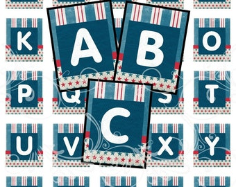 AMERICAN alphabet and more digital collage sheet scrabble tiles