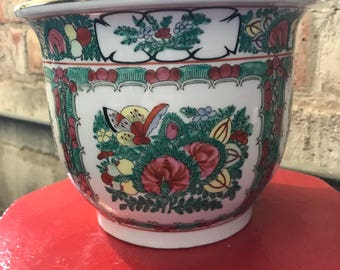 Rose Medallion Cache Pot with hole