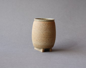 Footed Cup - Ash Glaze