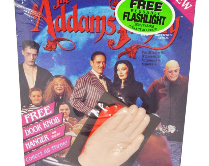 Vintage 90s The Addams Family Movie Promotional Unopened Sealed Cereal