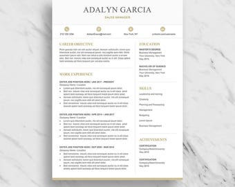 Professional Resume Template for Word   Modern Resume Design   CV Template for Word   Two Page Resume Download   Creative Resume Template