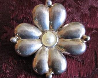 Vintage Taupe Brooch