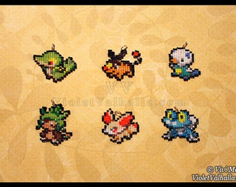 Bead Charms - Starter Pokemon Generation 5 & 6