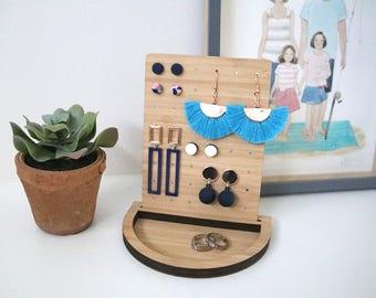 Trinket & Jewelry Tray with Earring Board - Jewellery Tray, ring dish, earring display