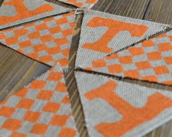 Tennessee Volunteers Bunting Banner Orange Football Go Vols