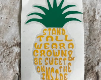 Pineapple yeti decal, housewarming, preppy, welcome gift