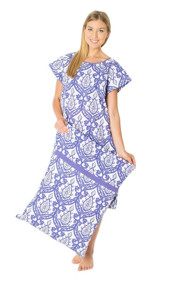 Brie Purple Maternity Labor Delivery Hospital Gown Gownie &