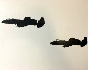 Warthog Flight - Two Ship Side View - Vinyl Decal - FREE SHIPPING
