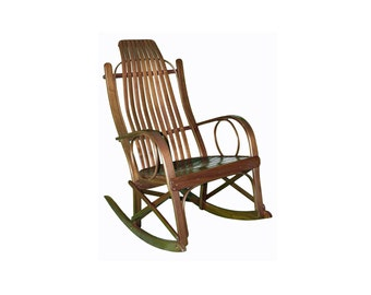 Solid Walnut Amish Bentwood Rocking Chair
