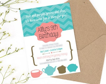 Pottery Party Invitation Printable, Art Party Invitation Printable, Craft Party Invitation Printable
