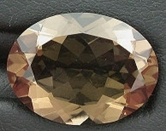 16x12 oval smoky quartz faceted gem stone gemstone