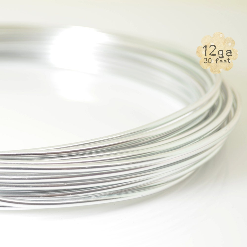 30ft 12ga Aluminum Craft Wire - 12 gauge, 9.2m, wire wrapping ...