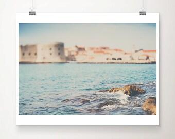 Dubrovnik photograph Adriatic ocean photograph Dubrovnik print travel photography Croatia photograph travel print Adriatic ocean print