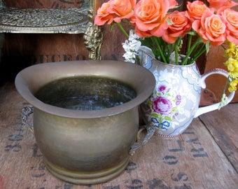 Large Brass Planter, Brass Plant Pot, Decorative Planter, Antique Planter, Brass Jardiniere, Garden Planter, Vintage Planter, House Plant