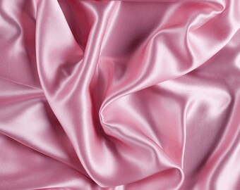 "45"" Wide 100% Silk Charmeuse Pink By the Yard (1000M114)"