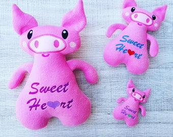 Sweetheart Piggy ITH Embroidery Pattern