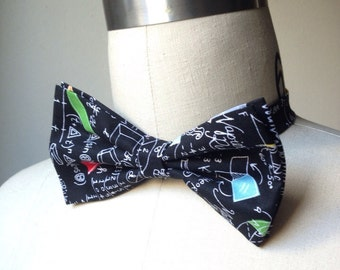 Arithmetic bowtie, pre-tied bow tie, adjustable bowtie math equation, geometry tie, Mens bowtie