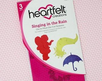 Heartfelt Creations Singing in the Rain Die Set - Garden Fairy Die Set - Umbrella Die - Singing in the Rain Collection Die Set - 9-290