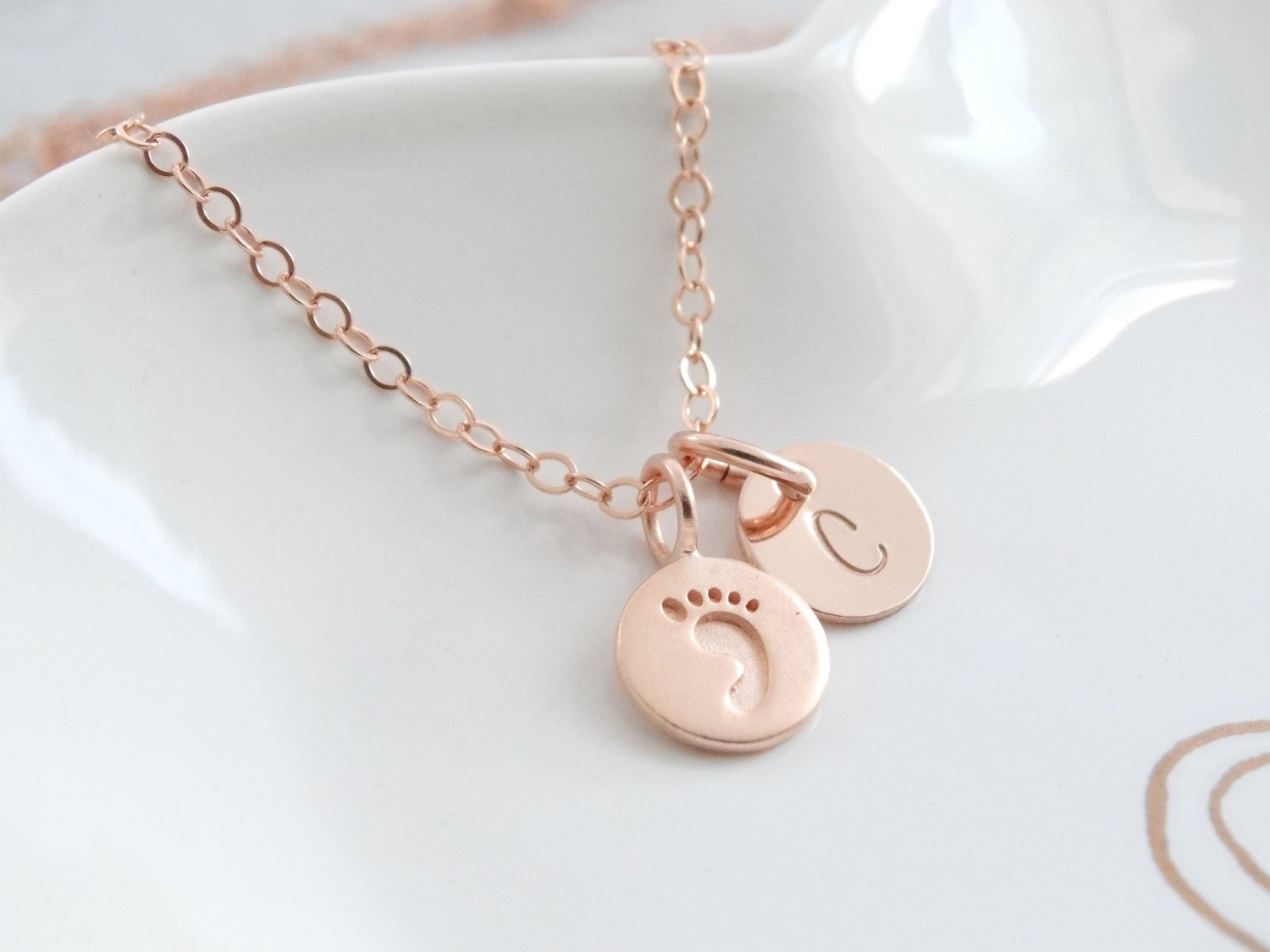 New baby gift new mom gift necklace baby footprint necklace new baby gift new mom gift necklace baby footprint necklace personalized baby gift rose gold necklace mothers necklace foot print necklace aloadofball Choice Image