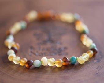 Raw Baltic Amber Teething Necklace in 'Chase' - Custom MacRae Naturals
