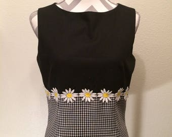 Vintage 90's Daisy top/black and checkered Daisy 90's tank top