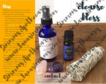 Cleanse + Bless Pamphlet - Digital Pamphlet, Print At Home, Instant Information