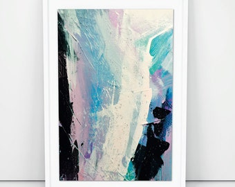 Large Abstract Painting, Printable abstract, Original Acrylic painting as a Digital Download, light pink and blue, light grey abstract