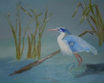Blue Heron acrylic