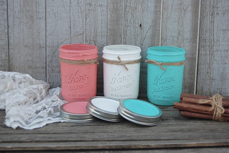 Mason Jars Kitchen Storage Jars Canister Set Shabby Chic