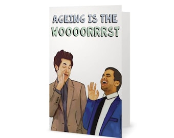 Parks and Rec Tom Haverford and Jean Ralphio Birthday Card (Parks and Recreation, Leslie Knope, Ron Swanson, Treat Yo Self)