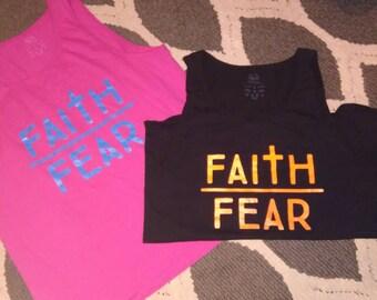 ON SALE!!! T-shirt. Faith over fear. Let your faith be bigger than your fear!