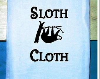 SLOTH CLOTH  Kitchen Towel Flour sack Tea Towel