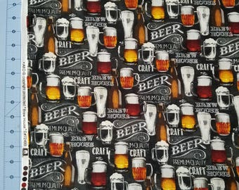 Brew House - Beer Cotton Fabric