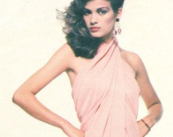 Gia Carangi Givenchy disco evening dress pattern -- Vogue Paris Original 2014