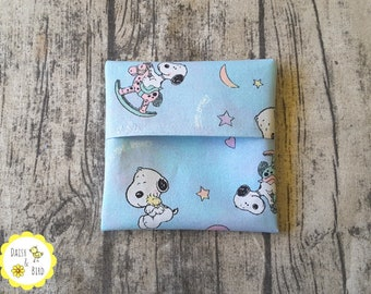 Mini Wet Bag / Pad Wrapper  - Snoopy