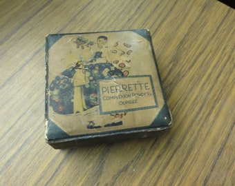 Vintage Pierrette Complexion Powder Depree Powder Box Full Face Powder