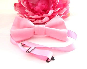 Bow tie, pink girls head piece,  Pink Bow Tie, wedding bow tie, party bow tie,  prom bow tie,little girls bow,  timelesspeony