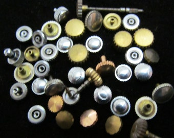 Destash Vial Watch Parts crowns Assemblage Industrial Altered Art Steampunk Charms IV 25