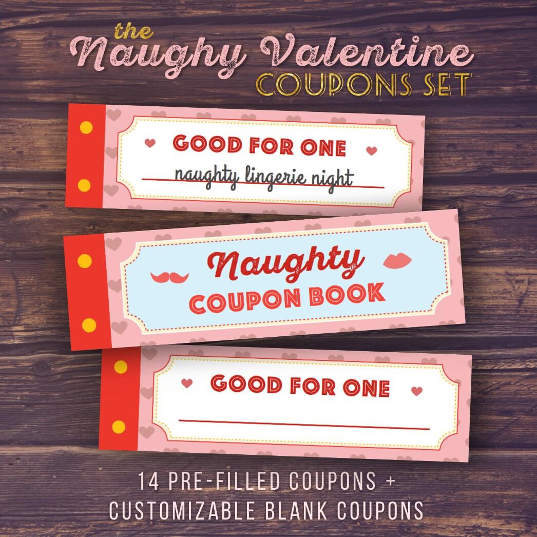 gift for boyfriend naughty love coupon book printable